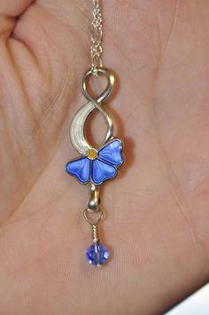STERLING NORWAY GUILLOCHE Enamel Flower Pendant by finntastic2006, $49.00
