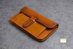leather wallet of classical practical design with hasp and key chain-SR
