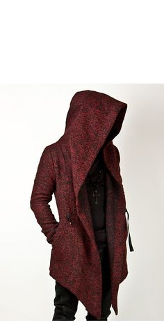 Avant-garde Unbeatable Style Diabolic Hood Cape Coat Vol.2 (Black/Red) - 33 - NewStylish
