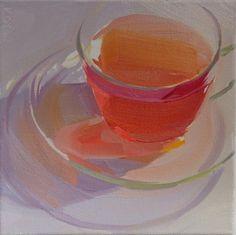 glass, transparent, still life, light, tea, orange