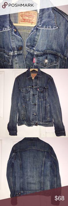 Levi Strauss Blue Jean / Denim Jacket Denim Blue Jean Jacket Size M Male Jacket, but women can wear.  Levi Strauss Brand Levi's Jackets & Coats Jean Jackets