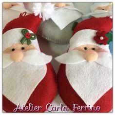 Enfeite Papai Noel em Feltro                                                                                                                                                                                 Mais