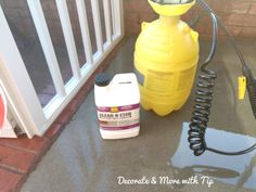 HOW I PAINTED & STAINED MY CONCRETE FLOOR TO LOOK LIKE WOOD – Decorate & More with Tip