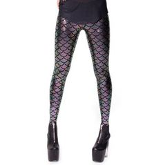 Black Chameleon Mermaid Leggings