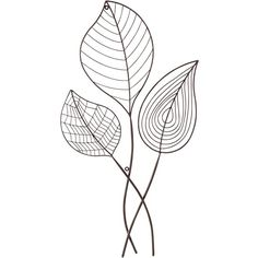"""Universal Lighting and Decor Three Leaves 29 3/4"""" High Metal Wall Art (€18) ❤ liked on Polyvore featuring home, home decor, wall art, fillers, deco, decor, brown, metal home decor, metal wall art and outdoor wall art"""