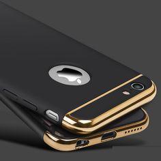 Oro di lusso Argomento duro Per il iphone 7 6 6 S 5 5 S SE Copertura Posteriore copertura Rimovibile 3 in 1 Fundas Caso Per il iphone 6 6 s Più 7 Più borsa