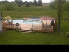 Above ground pool and deck idea