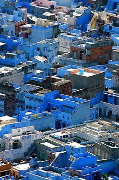 moroccan blue / chefchaoen, morocco