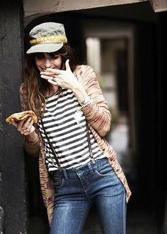 Lou Doillon photographed by Garance Dore for Free People. Charlotte Gainsbourg, Serge Gainsbourg, Lou Doillon, Jane Birkin, Cool Outfits, Casual Outfits, Fashion Outfits, Fashion Trends, Suspenders For Women