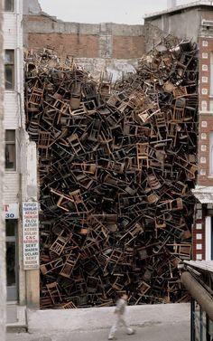 Doris Salcedo -Chairs  (Istanbul) 2003d