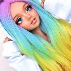 his cutie is just a close up goddess😌💕 Beautiful Barbie Dolls, Pretty Dolls, Cute Dolls, Anime Dolls, Ooak Dolls, Barbie Tumblr, Doll Face Paint, Custom Monster High Dolls, Enchanted Doll