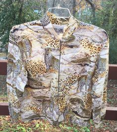 Vintage 1990's Cheetah Print City Girl Sport Jacket Coat Size M Hipster Bomber  | eBay