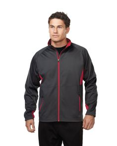 Mens poly fleece side cut panel bonded jacket and contrast zip. Tri mountain J6150 #perfect #sporty   #casualwear #bachlor