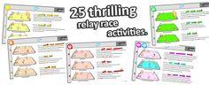relay races games sport pe activities ideas