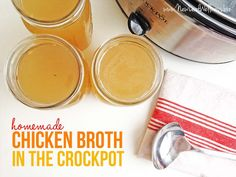 Homemade Chicken Broth in the Crockpot