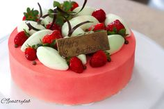 Instagram 上的 Joannie Chan:「 Mixed berries yogurt mousse cake 🍒🍓🎂🍫🍼 #homebaked #berries #moussecake #yogurt #pastry #birthdaycakes #生日蛋糕 #蛋糕 #甜點 #慕絲蛋糕 #自家製… 」 Raspberry, Fruit, Food, The Fruit, Raspberries, Meals, Yemek, Eten