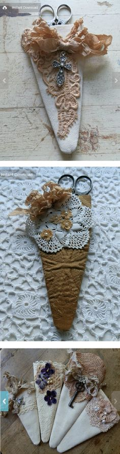 Neat ideas for scissor keep - can use scraps for this project. :)