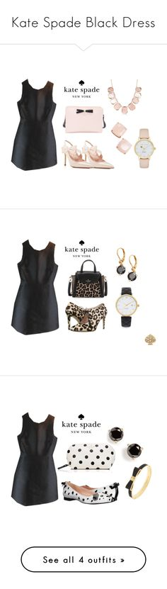 Kate Spade Black Dress by folioboutique on Polyvore featuring Kate Spade