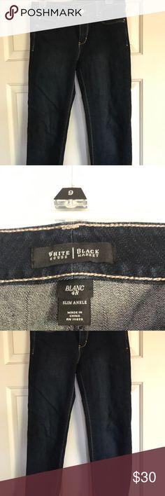White House black market jeans EUC EUC size 4 Black house white market jeans White House Black Market Jeans Ankle & Cropped