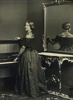 """Jenny Lind 1848.  Jenny, known as the """"Swedish nightingale"""" was the most popular singer in America by 1854.  As a child she liked to sing to her cat.  She was discovered when a servant for the Royal Opera passed by the window and heard her singing to the cat."""