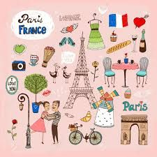 Buy Paris France Landmarks and Icons by on GraphicRiver. Set of hand-drawn Paris France landmarks and icons with lovers the Eiffel Tower lamppost fashion Arc de Trimphe bicyc. Paris France, France Love, Belle France, France Attractions, Illustration Parisienne, Paris Landmarks, I Love Paris, Egg Art, Bastille Day