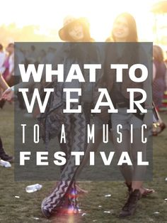 What to wear to music festivals #fashion