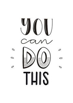 Handlettering Inspiration — You can do this. Succes kaart met de tekst you can do this in handletteringstijl Calligraphy Quotes Doodles, Doodle Quotes, Hand Lettering Quotes, Lettering Styles, Typography Quotes, Brush Lettering, Bullet Journal Quotes, Bullet Journal Writing, Bullet Journal Ideas Pages