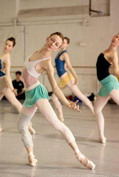 I will always love the ballet class look that's half Flashdance, half I-got-dressed-in-the-dark