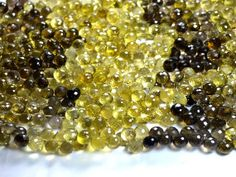 Beer quartz onion faceted beads strand (Code-22\63)...  http://etsy.me/1uhV0G4, http://etsy.me/1mFe0ZJ  #beerquartz #onionfacetedbeads