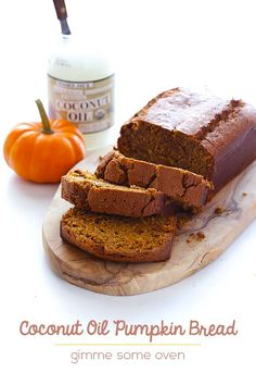 This Coconut Oil Pumpkin Bread recipe is simple to make in just one bowl, and is perfectly spiced, moist, and delish!