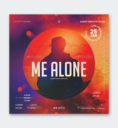 Me Alone Album Cover Template PSD Sound Samples, I Am Alone, Cover Template, Your Music, Apple Music, Cover Design, Album Covers, Chart, Templates