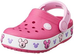 crocs Mickey K Light-Up Clog (Toddler/Little Kid), Candy Pink, 11 M US Little Kid Fully molded croslite construction Pivoting heel strap Clogs Outfit, Pink Rain Boots, Snow Boots, Pink Sandals, Girls Sandals, Mickey Mouse, Orthopedic Sandals, Carter Kids, Colors