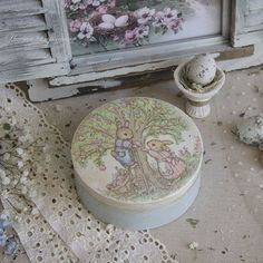 Деревянная коробочка, внутри не обработана #декупаж #пасха #decoupage #handmade #easter #pastel #vintage