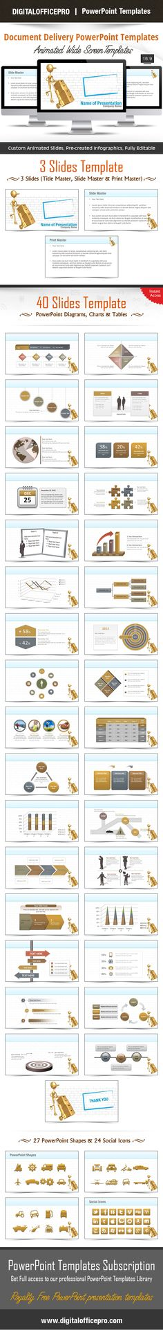 Impress and Engage your audience with Document Delivery PowerPoint Template and Document Delivery PowerPoint Backgrounds from DigitalOfficePro. Each template comes with a set of PowerPoint Diagrams, Charts & Shapes and are available for instant download.