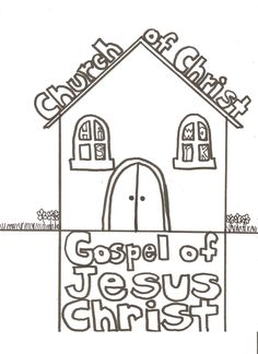 Church of Christ Coloring Page