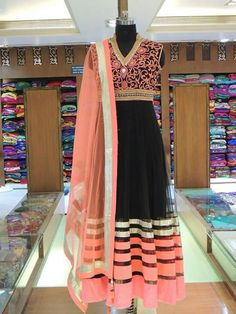#Anarkali wow peach and black dats a unique combi...pretty!