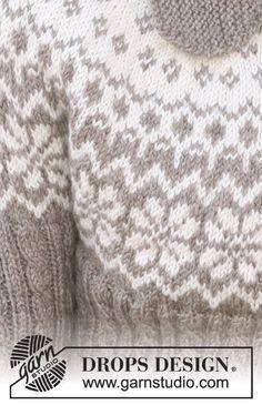 Woman Knitwear and Sweaters 3 square woman free knit sweater pattern Fair Isle Knitting Patterns, Sweater Knitting Patterns, Knitting Stitches, Knit Patterns, Hand Knitting, Free Knitting Patterns For Women, Drops Design, Punto Fair Isle, Icelandic Sweaters