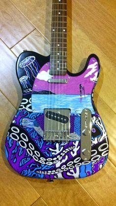 Guitar Art by Beryl Cahapay, via Behance