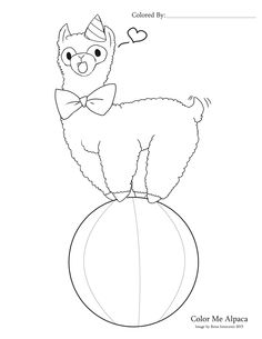 Color An Alpaca 1