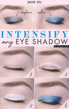 How to make your pastel eye shadow look brighter!