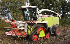 Ensileuse agricole Claas Jaguar 800 chenilles caoutchouc Zuidberg Tracks