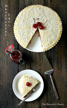 The Brunette Baker: Manchester Tart Sweet Pie, Sweet Tarts, Manchester Tart Recipes, Just Desserts, Dessert Recipes, British Bake Off Recipes, Cheesecake Tarts, The Brunette, Pastel
