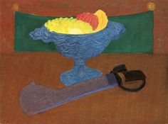 dappledwithshadow:  Machete and Fruit Milton Avery - 1949