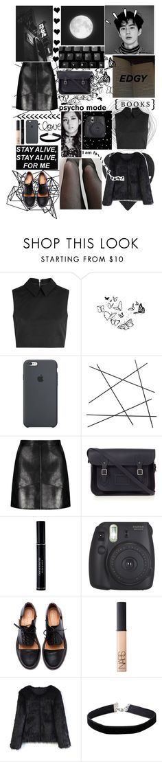 """set  - suho and jisoo"" by protectseokjwn on Polyvore featuring McQ by Alexander McQueen, Color Me, CB2, The Cambridge Satchel Company, Christian Dior, Fujifilm, Minimarket, Old Navy, NARS Cosmetics e Chicwish"