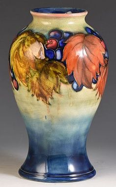 Buy William Moorcroft pottery designs and ceramics including Moorcroft vases, jars, teapots and more from Andrew Muir, a leading Moorcroft dealer. Hand Painted Pottery, Painted Pots, Pottery Painting, Pottery Pots, Ceramic Pottery, Ceramic Art, Examples Of Art, Ceramic Materials, Pottery Designs