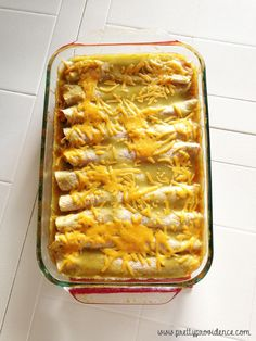 Grandma Kim's best ever HEALTHY enchiladas! .. I made these the other day and they really do taste good! Refreshing to not be caked in cheese and fatty sauce..