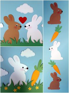 Kinderleichte Osterhasen Here I show you a very simple form of a rabbit for various handicraft possi Preschool Crafts, Easter Crafts, Windows Color, File Decoration Ideas, Easter Paintings, Diy And Crafts, Crafts For Kids, Toddler Learning Activities, Creative Kids
