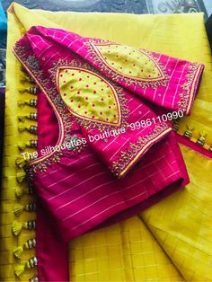 Trendy Ideas For Embroidery Simple Blouse Patch Work Blouse Designs, Maggam Work Designs, Hand Work Blouse Design, Simple Blouse Designs, Stylish Blouse Design, Designer Blouse Patterns, Fancy Blouse Designs, Bridal Blouse Designs, Blouse Neck Designs