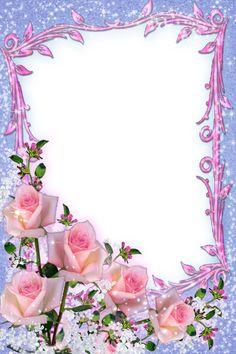 Framed Wallpaper, Flower Background Wallpaper, Flower Backgrounds, Frame Border Design, Page Borders Design, Decoupage Vintage, Vintage Crafts, Boarders And Frames, Birthday Frames