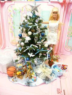 OOAK Barbie Christmas Tree Living Room House Furniture Diorama 1 6 Scale Lot | eBay